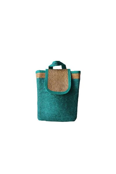 - حقيبة ماركة Etay Vintage Straw Basket Backpack