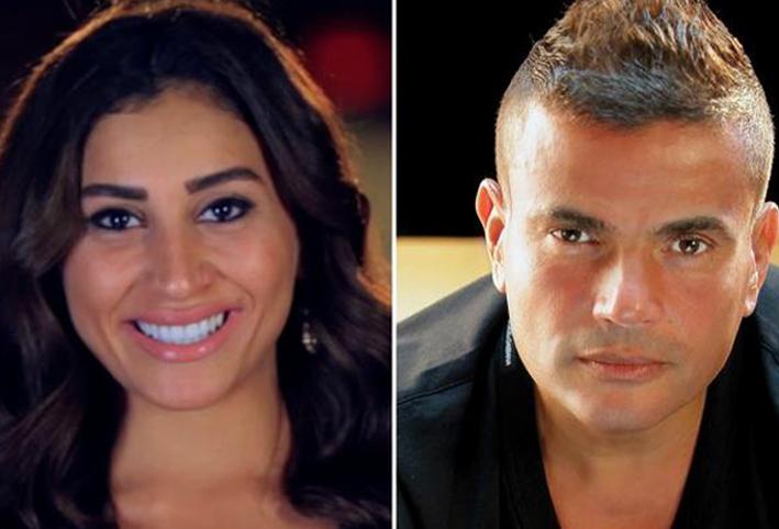 علاقة عمرو دياب ودينا الشربيني الى الواجهة من جديد والسبب الجمال نت